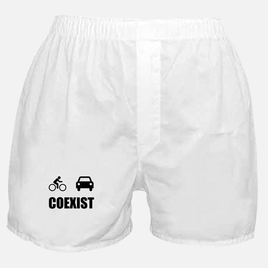 Coexist Car Bicycle Boxer Shorts