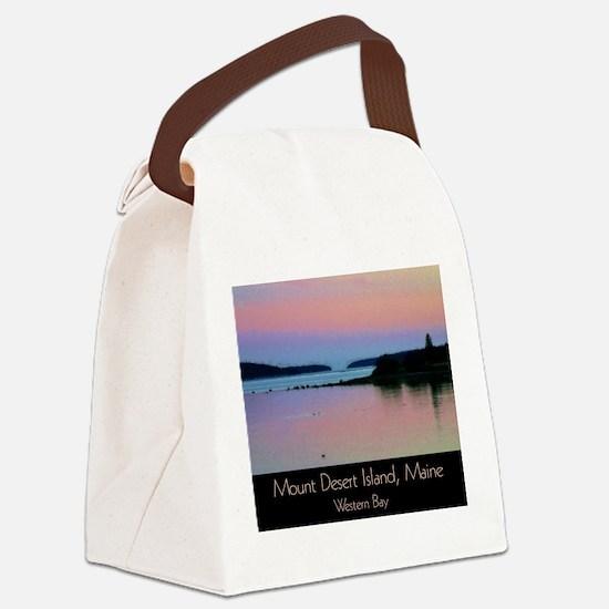 Mount Desert Island - Western Bay Canvas Lunch Bag