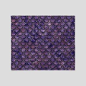 SCALES2 BLACK MARBLE & PURPLE MARBLE Throw Blanket