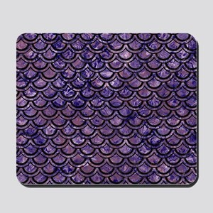 SCALES2 BLACK MARBLE & PURPLE MARBLE (R) Mousepad