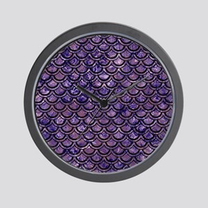 SCALES2 BLACK MARBLE & PURPLE MARBLE (R Wall Clock