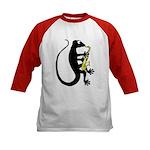 Gecko Saxophone Kids Baseball Jersey