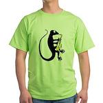Gecko Saxophone Green T-Shirt