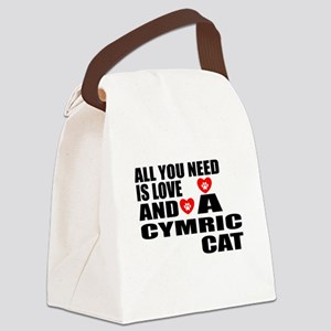 All You Need Is Love Cymric Cat D Canvas Lunch Bag