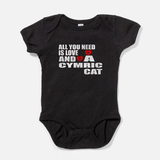 All You Need Is Love Cymric Cat Desi Baby Bodysuit