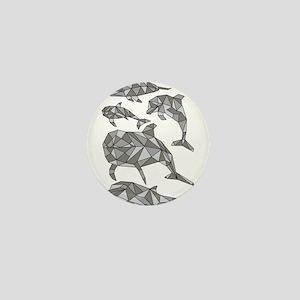 Geometric Dolphins Mini Button