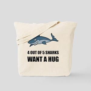Sharks Wants Hug Tote Bag