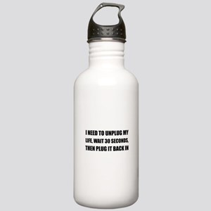 Unplug My Life Stainless Water Bottle 1.0L