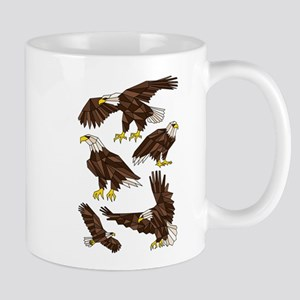 Geometric Bald Eagles Mugs