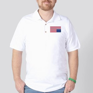 Upside Down Flag Golf Shirt