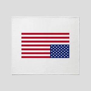 Upside Down Flag Throw Blanket