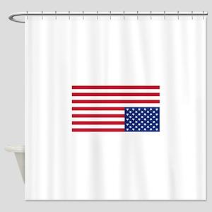 Upside Down Flag Shower Curtain