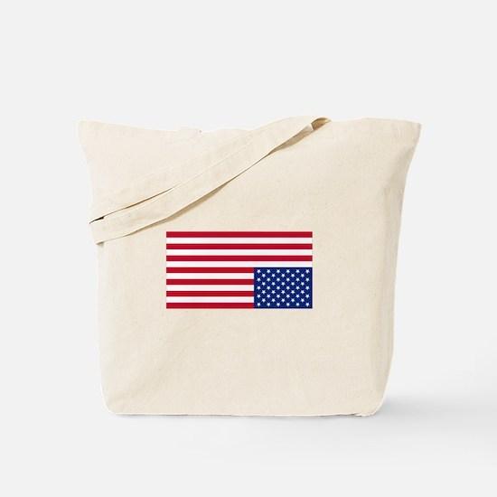 Upside Down Flag Tote Bag