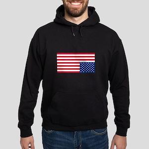 Upside Down Flag Hoodie (dark)