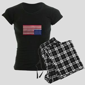Upside Down Flag Women's Dark Pajamas
