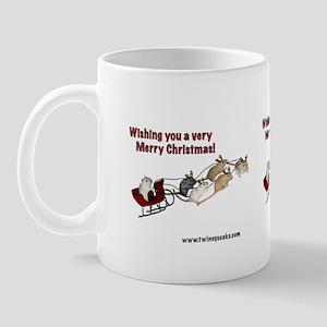 Santa Paws Gerbil Christmas Mug