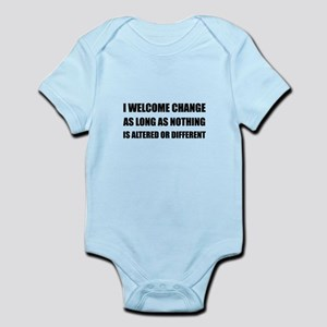 Welcome Change Nothing Different Body Suit
