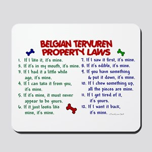 Belgian Tervuren Property Laws 2 Mousepad