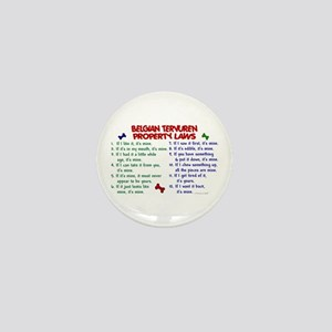 Belgian Tervuren Property Laws 2 Mini Button
