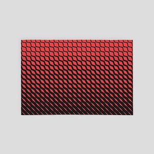 Red Geometric 4' x 6' Rug