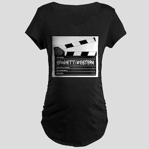Spaghetti Western Movies Clapper Maternity T-Shirt