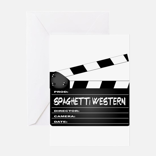 Spaghetti Western Movies Clapperboa Greeting Cards