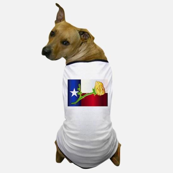 Texas Yellow Rose Dog T-Shirt