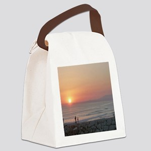 Sunset Beach Caparica Canvas Lunch Bag
