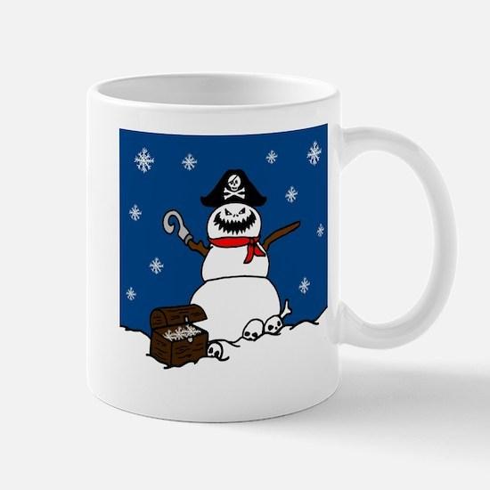 Christmas Pirate Snowman Mugs