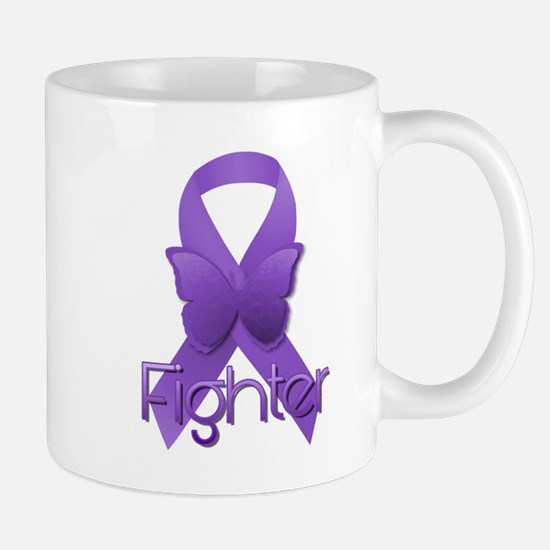 Purple Ribbon: Fighter Mug