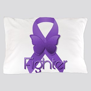Purple Ribbon: Fighter Pillow Case