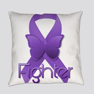 Purple Ribbon: Fighter Everyday Pillow