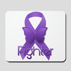 Purple Ribbon: Fighter Mousepad