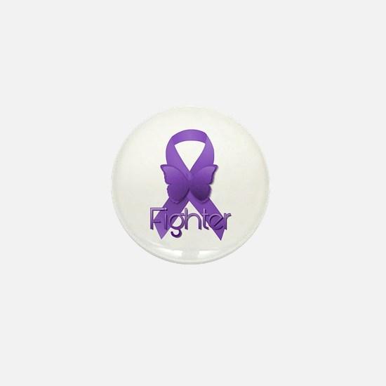 Purple Ribbon: Fighter Mini Button