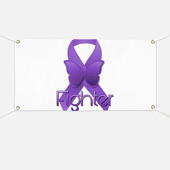 Purple Ribbon: Fighter Banner
