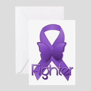 Purple Ribbon: Fighter Greeting Card