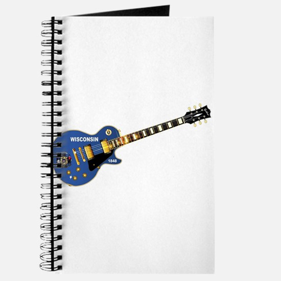 Wisconsin State Flag Guitar Journal