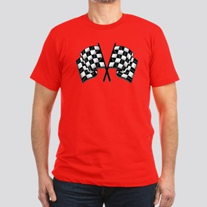 Chequered Flag Men's Fitted T-Shirt (dark)