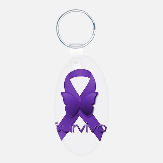 Purple Ribbon: Survivor Keychains