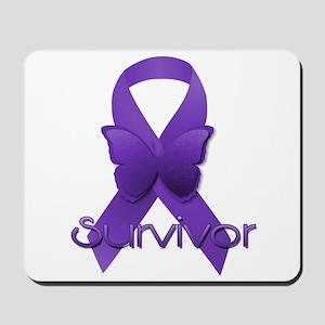 Purple Ribbon: Survivor Mousepad