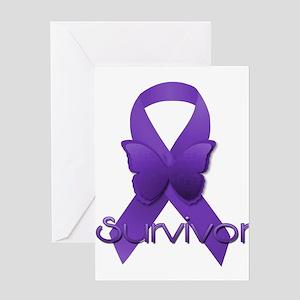 Purple Ribbon: Survivor Greeting Card