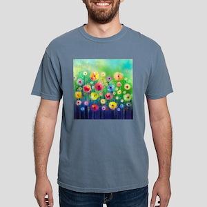 Watercolor Flowers Mens Comfort Colors Shirt
