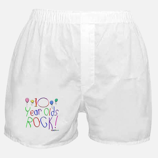 10 Year Olds Rock ! Boxer Shorts