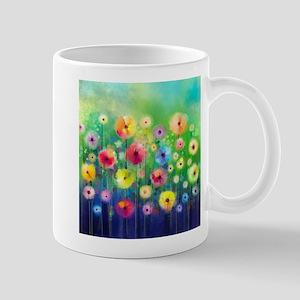Watercolor Flowers 11 oz Ceramic Mug