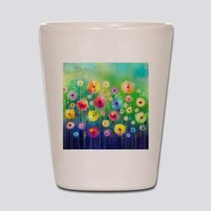 Watercolor Flowers Shot Glass
