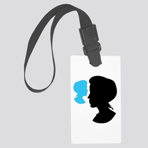 Cameo Girl Silhouette Large Luggage Tag
