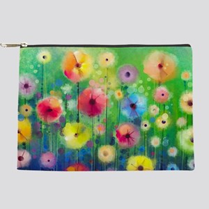 Watercolor Flowers Makeup Bag