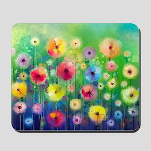 Watercolor Flowers Mousepad