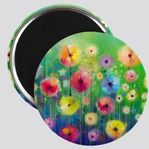 Watercolor Flowers Magnet