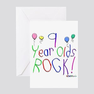 9 Year Olds Rock Greeting Card